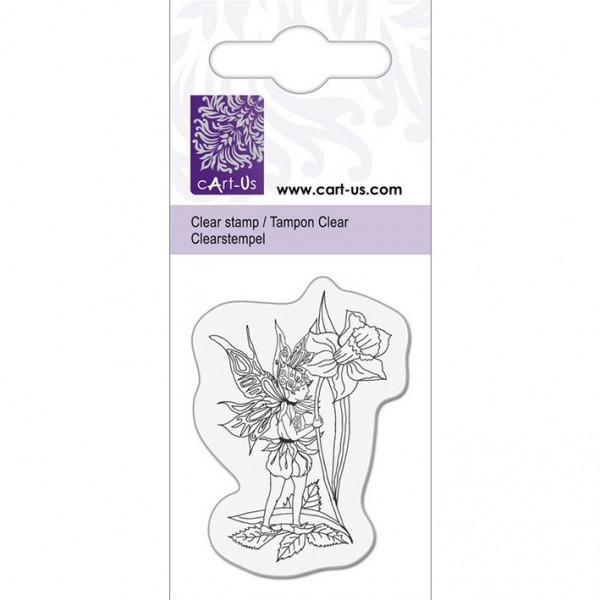 KPC печат силиконов 1055, елф с нарцис, 5х6 cm
