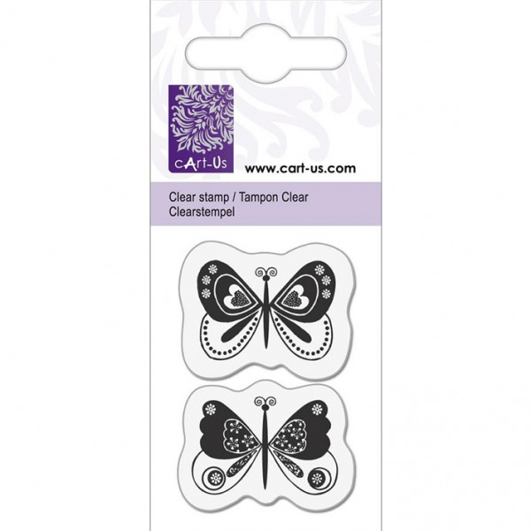 KPC печат силиконов 1059, 2 фентъзи пеперуди, 5х6 cm