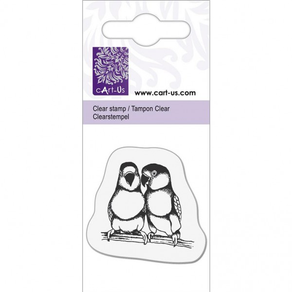 KPC печат силиконов 1062, 2 папагалчета, 5х6 cm