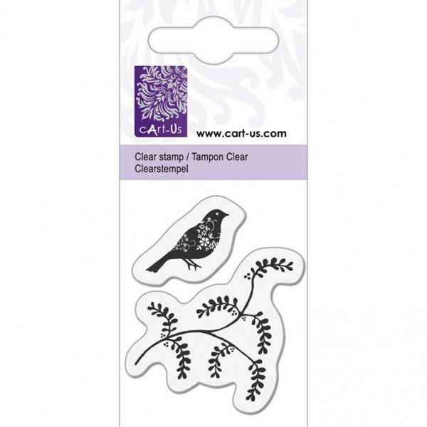 KPC печат силиконов 1064, птица и клонка, 5х6 cm