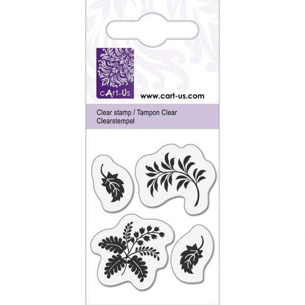 KPC печат силиконов 1065, 4 малки листенца, 5х6 cm