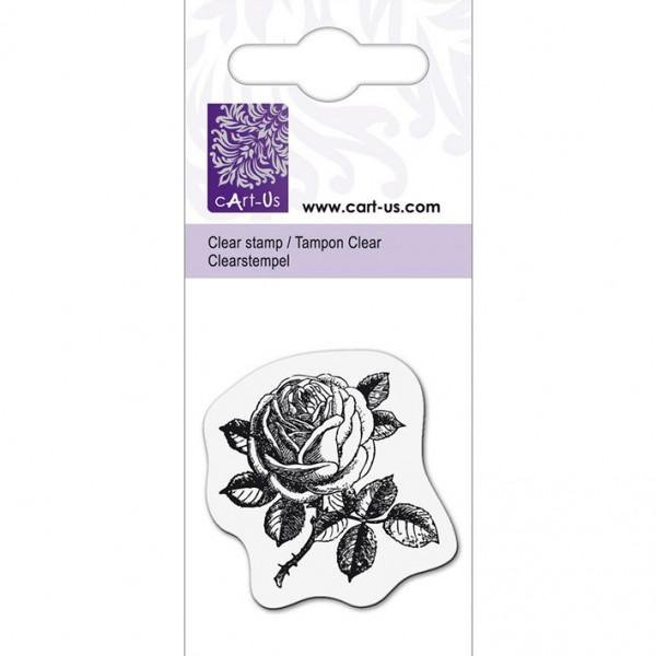 KPC печат силиконов 1076, малка роза 1, 5х6 cm