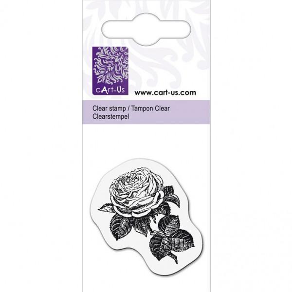 KPC печат силиконов 1077, малка роза 2, 5х6 cm
