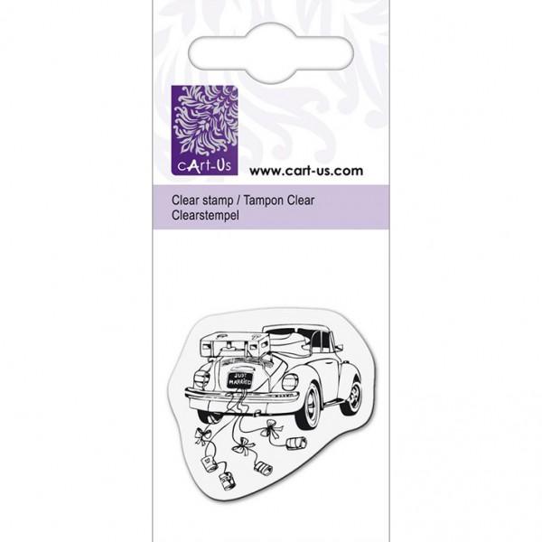 KPC печат силиконов 1079, сватбена кола, 5х6 cm