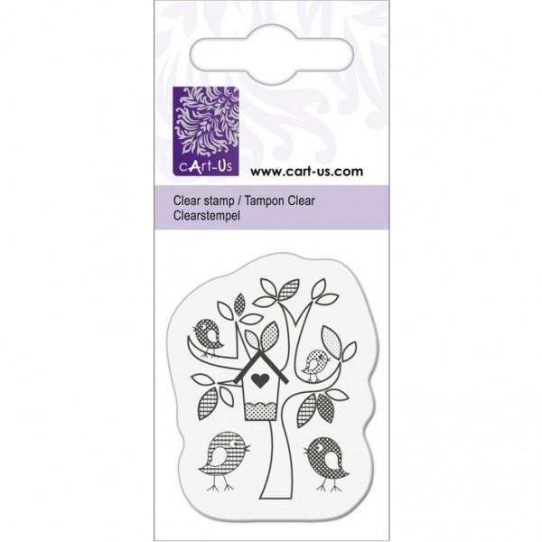 KPC печат силиконов 2051, дърво с птички, 5х6 cm