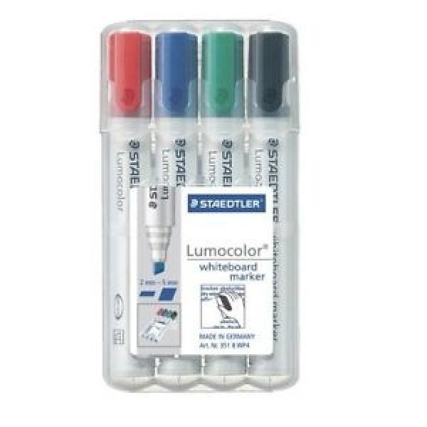 Комплект маркери за бяла дъска Lucocolor 351 - 4 цвята