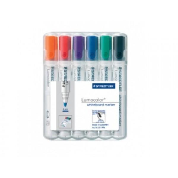 Комплект маркери за бяла дъска Lucocolor 351 - 6 цвята