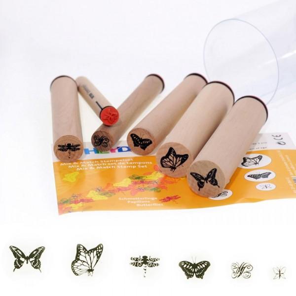 Heyda печати 6 бр - 43-Пеперуди
