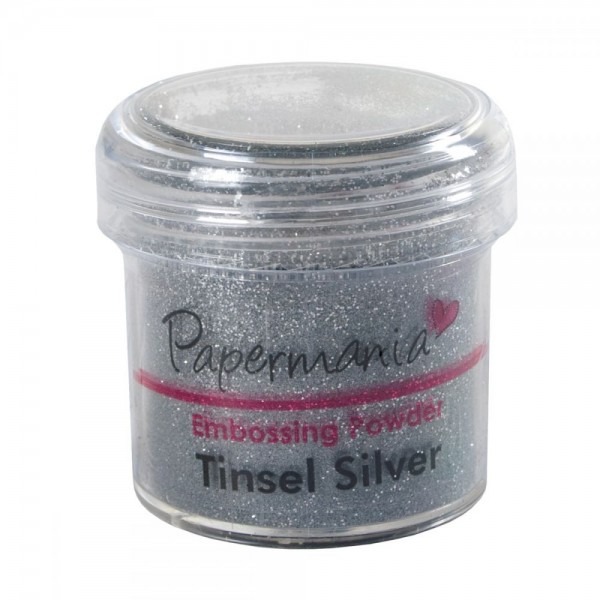 Papermania - Ембосинг пудра - Tinsel Silver