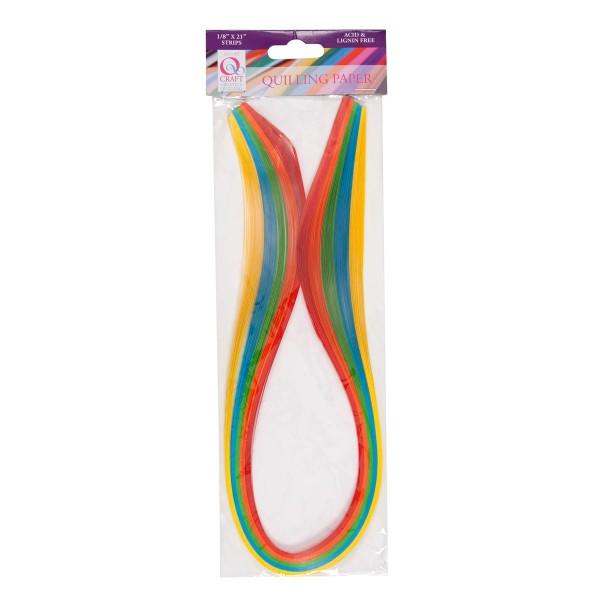 CRAFTS, USA - куилинг ленти 100 бр. 3 мм x 53 см. - Ярки цветове