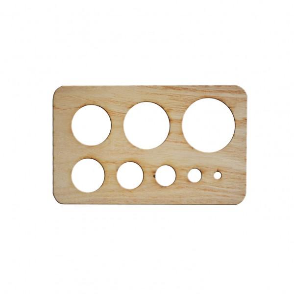 Дървен шаблон за квилинг 15*09 cm