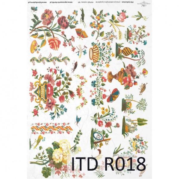 Оризова хартия за декупаж - A4 25gr - ITD Collection R018