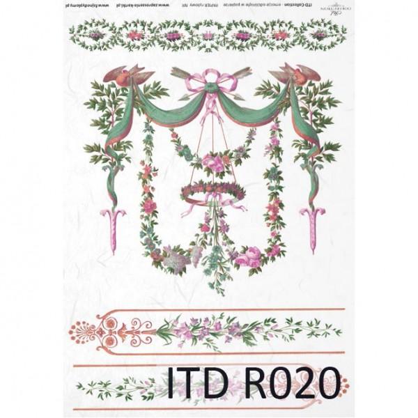 Оризова хартия за декупаж - A4 25gr - ITD Collection R020