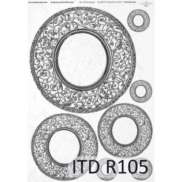 Оризова хартия за декупаж - A4 25gr - ITD Collection R105