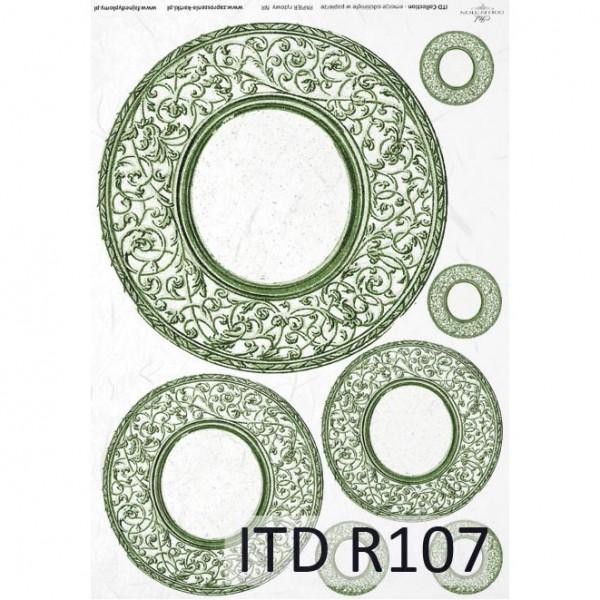 Оризова хартия за декупаж - A4 25gr - ITD Collection R107