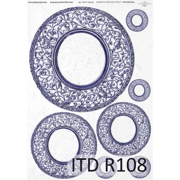 Оризова хартия за декупаж - A4 25gr - ITD Collection R108