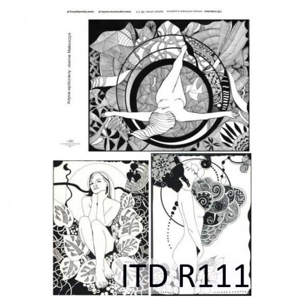 Оризова хартия за декупаж - A4 25gr - ITD Collection R111