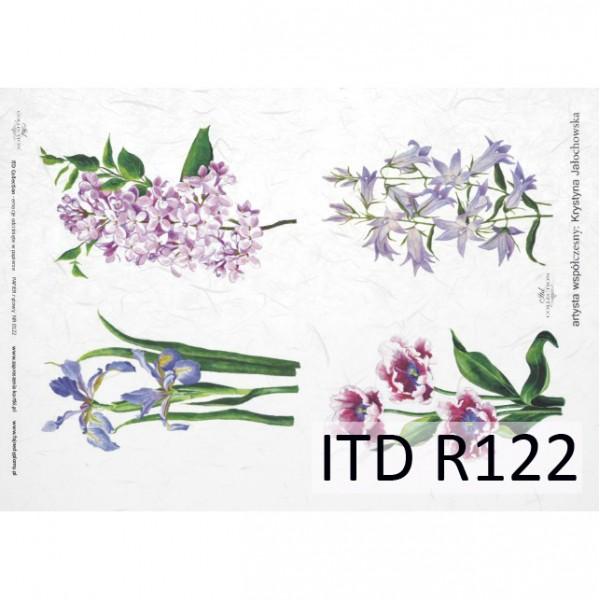 Оризова хартия за декупаж - A4 25gr - ITD Collection R122