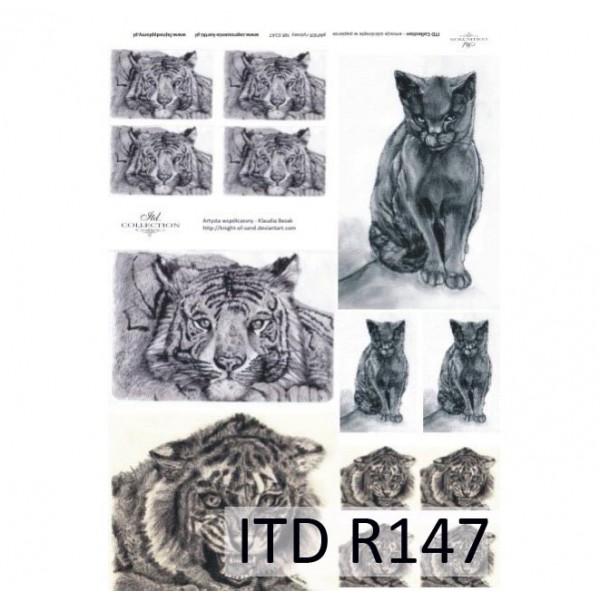 Оризова хартия за декупаж - A4 25gr - ITD Collection R147