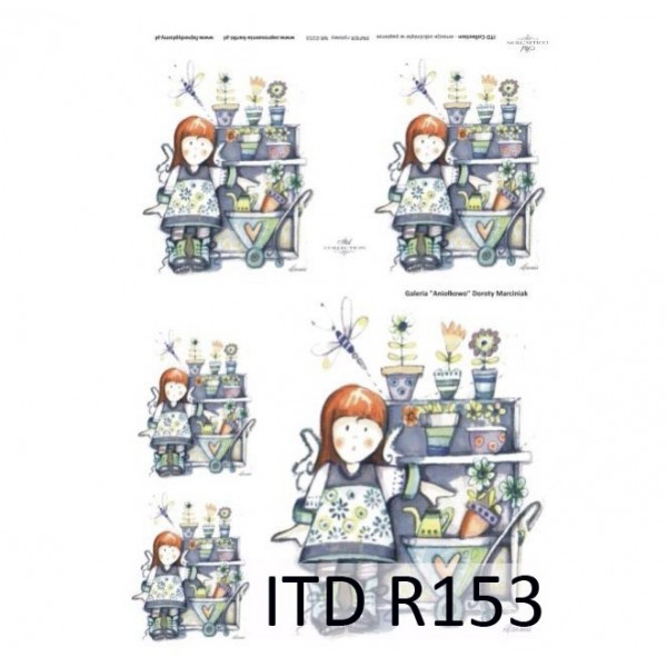 Оризова хартия за декупаж - A4 25gr - ITD Collection R153