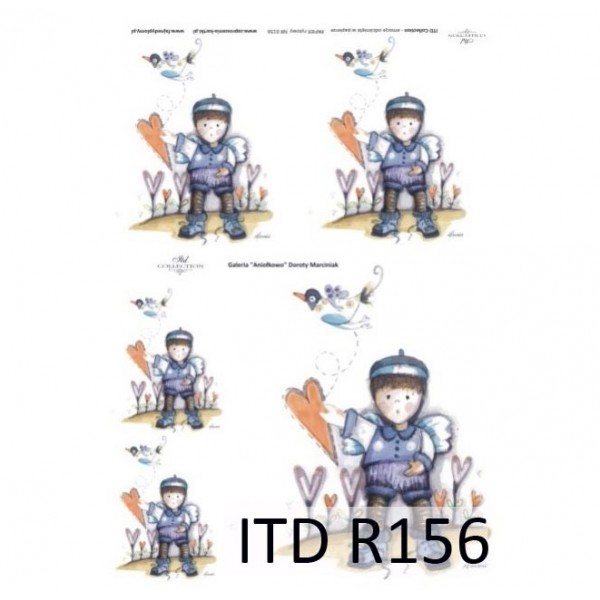 Оризова хартия за декупаж - A4 25gr - ITD Collection R156