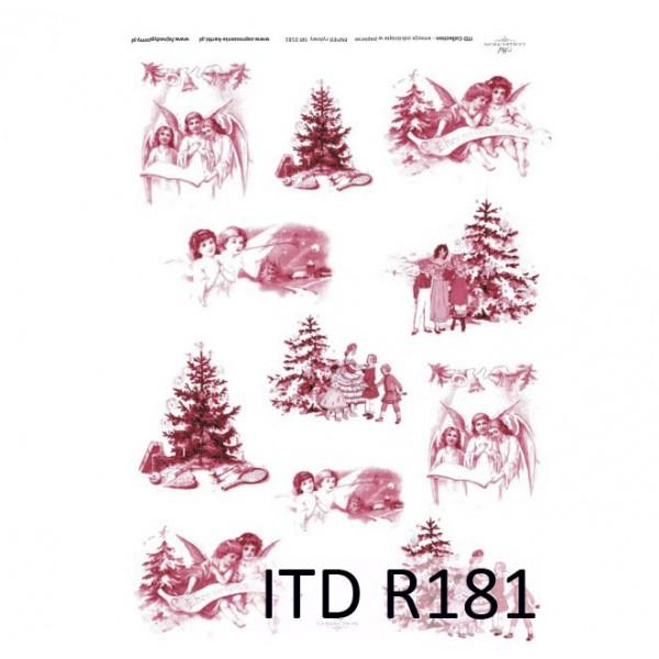Оризова хартия за декупаж - A4 25gr - ITD Collection R181