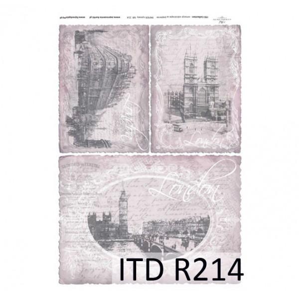 Оризова хартия за декупаж - A4 25gr - ITD Collection R214