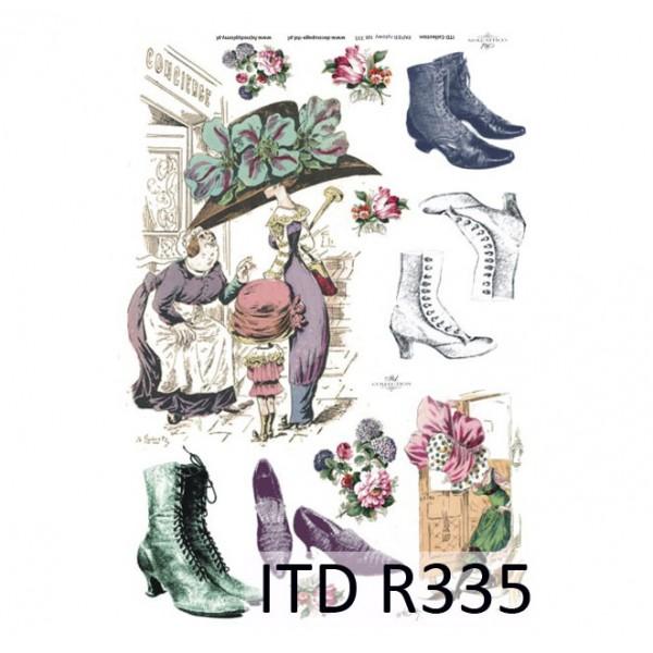 Оризова хартия за декупаж - A4 25gr - ITD Collection R335