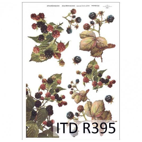 Оризова хартия за декупаж - A4 25gr - ITD Collection R395