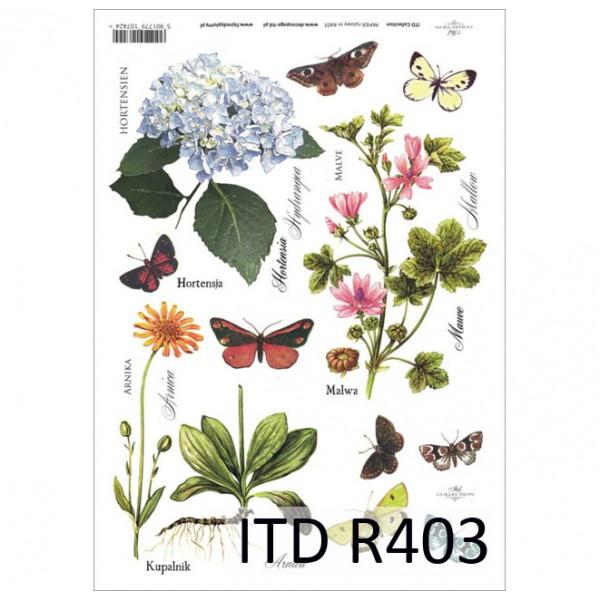 Оризова хартия за декупаж - A4 25gr - ITD Collection R403
