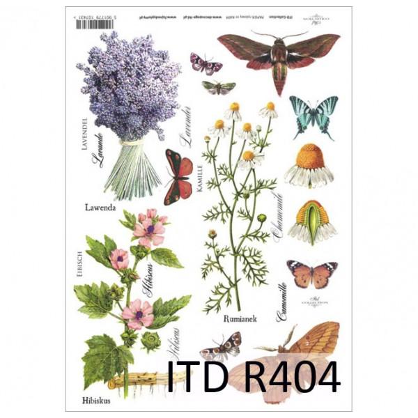 Оризова хартия за декупаж - A4 25gr - ITD Collection R404