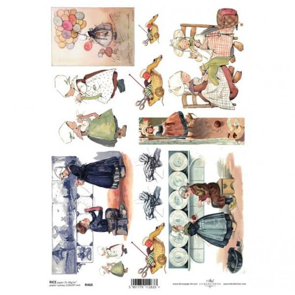 Оризова хартия за декупаж - A4 25gr - ITD Collection R466