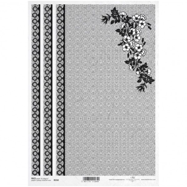 Оризова хартия за декупаж - A4 25gr - ITD Collection R550