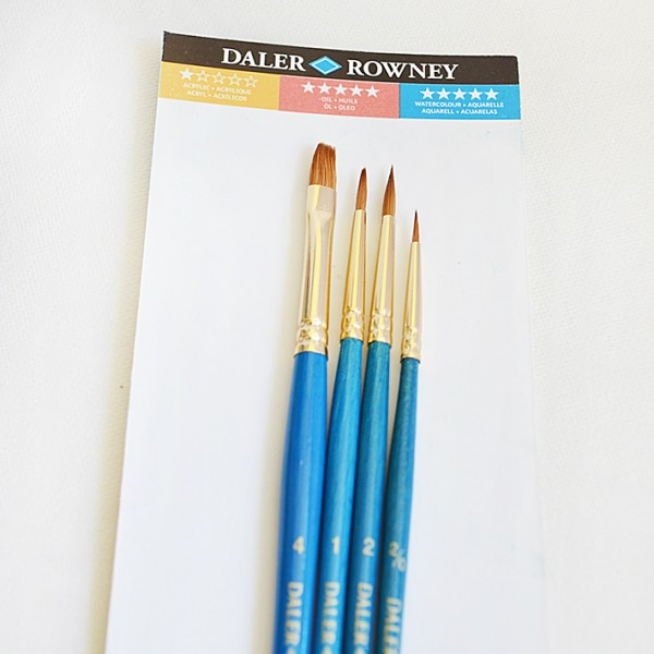 Daler Rowney четки Simply Aquarell, Самур 4 бр