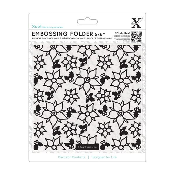 Папка за релеф 6x6inch - Poinsettia Pattern