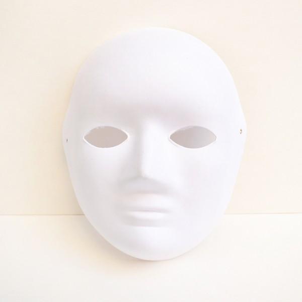YHM маска бял картон 25 по 18 cm с ластик