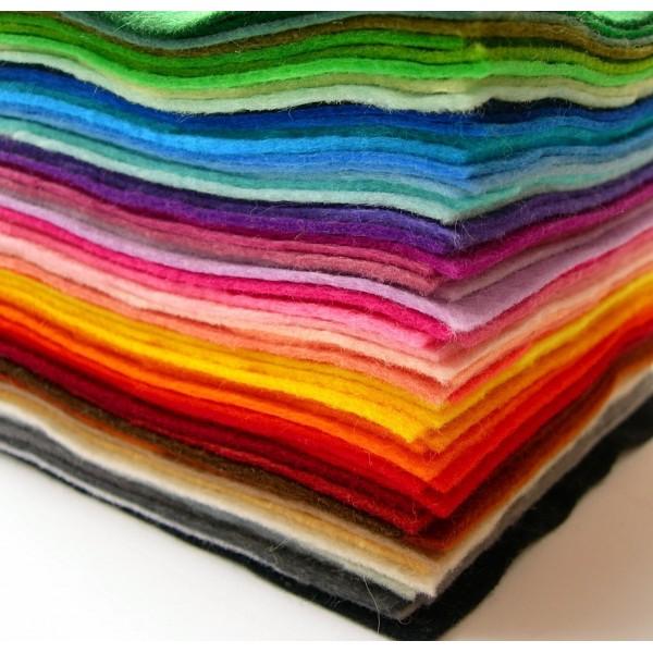 Слънчоглед филц 1.5 mm 15*15 cm, 10 л от един цвят
