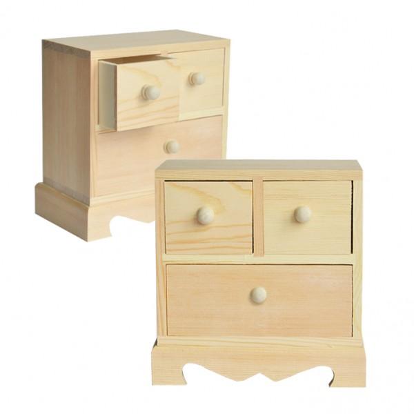 Chenfei 10737 шкафче 3 чекмеджета, 16*16*9 cm