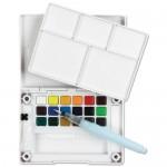 акварелна боя комплект Сакура Кой Пленер 18 цвята, с четка