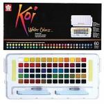 акварелна боя комплект Сакура Кой Пленер 60 цвята, с четка