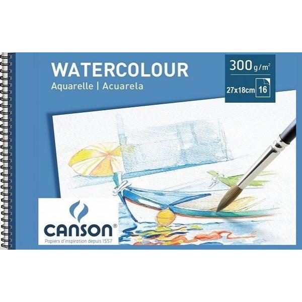 АКВАРЕЛЕН блок 16л 270x180 - CANSON WATERCOLOUR PAD 300g