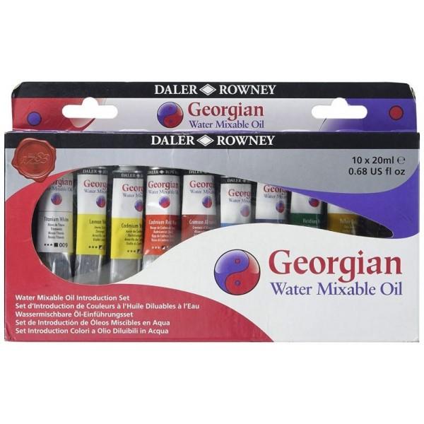 Водоразтворима Маслена Боя в Комплект Дейлър-Роуни Georgian H2O 20 ml, 10 цвята