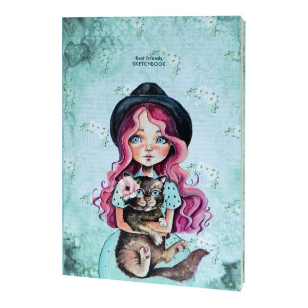 Скицник 'Having a lovely time' B5 (17.6*25 cm) 80 листа 80g Best friends