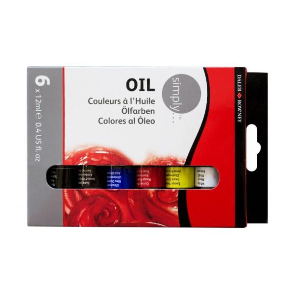 Daler Rowney комплект маслена боя Simply 6 цвята*12 ml