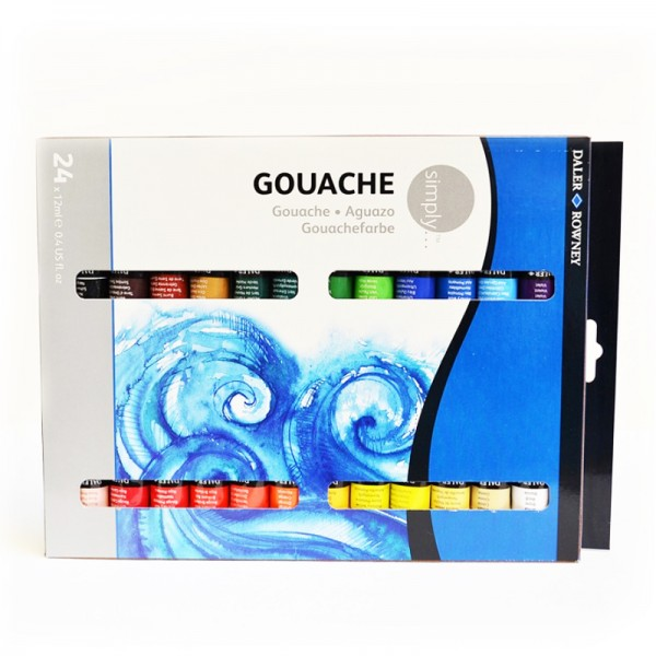 Daler Rowney темпера Simply комплект 24 цвята по 12 ml