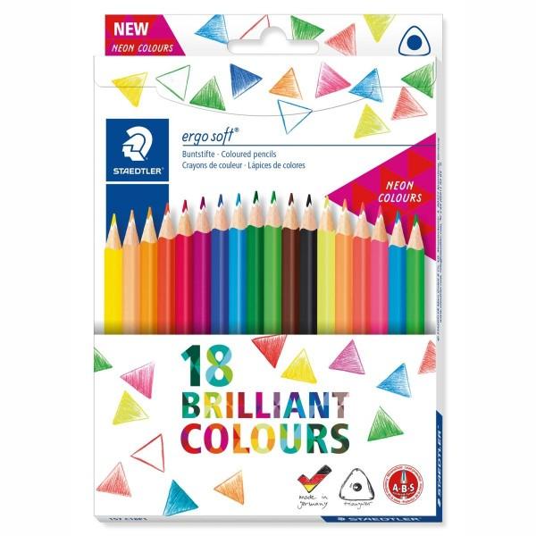 Цветни моливи 18цв. Staedtler Ergo Soft