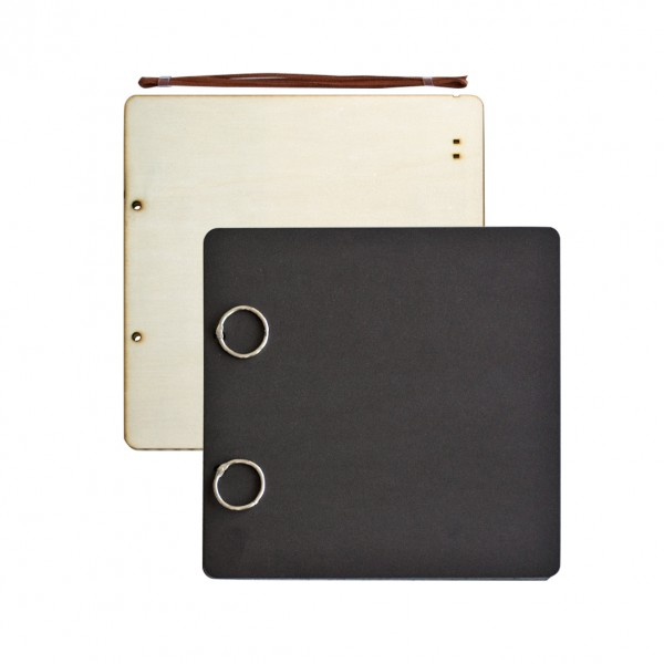 Албум за снимки 21*21 cm, 24 листа, черен
