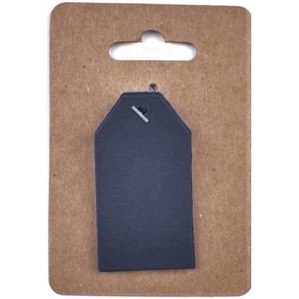 Тъмно Сини Тагчета от Картон Murano 3 x 4 cm, 12 броя