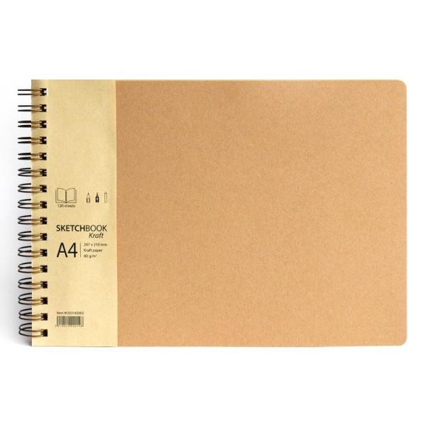 'Kraft' скицник A4 пейзаж 120л крафт хартия