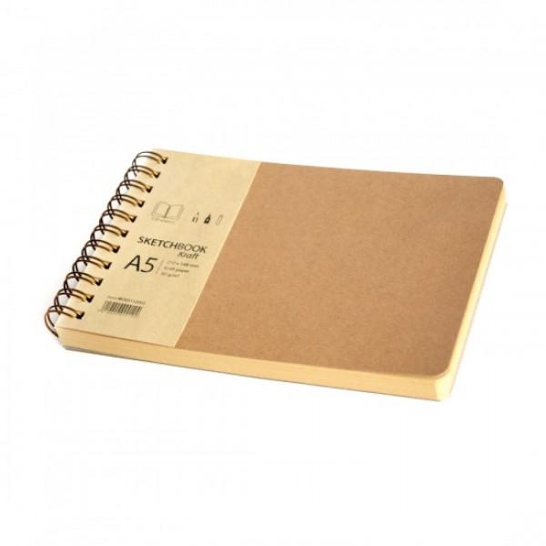 Скицник 'Kraft' A5 пейзаж 120л крафт хартия 80 g